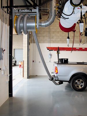 repair shop exhaust system
